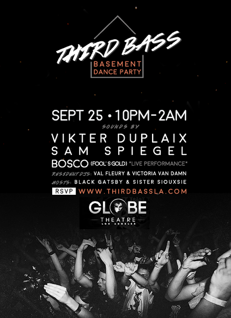 THIRD BASS – BASEMENT DANCE PARTY returns FRIDAY SEPT 25